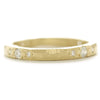 Dawes Design 3 mm hammered band with .13twc white diamonds in 18kyg