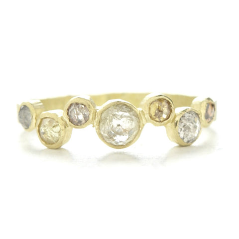 Dawes Design hammered band with .25pts 7 opaque diamonds