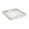 Faux leather croc embossed print square tray