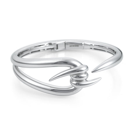 Stephen Webster Forget Me Knot collection white rhodium plated sterling silver barbed bracelet
