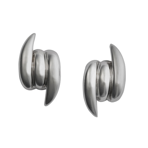 Stephen Webster Forget Me Knot black rhodium knot studs