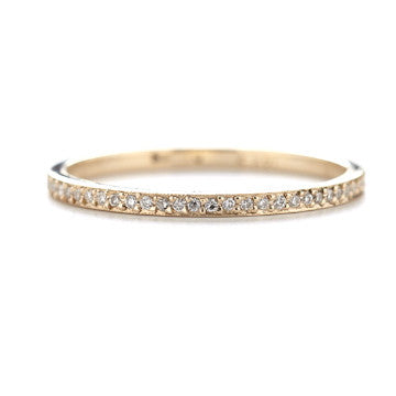 Dawes Design 3/4 pave diamond band in14kwg