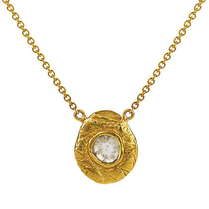 Pendant with .45 ct. diamond slice in 18k gold