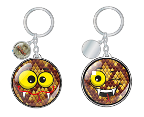 Kobra Emoji Keyring - New for 2017