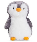 Soft Toy Penguin - Fluffy Grey