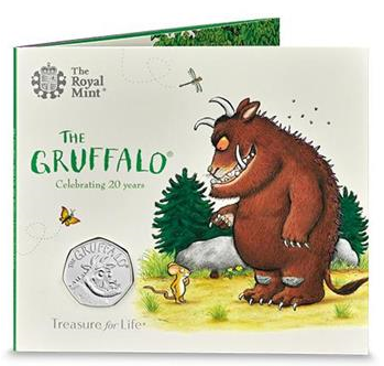 a Gruffalo 2019 UK 50p Brilliant Uncirculated Coin - Limited Edition