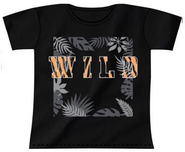 Tiger Kids Black T-Shirt
