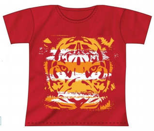 Tiger Kids Red T-Shirt
