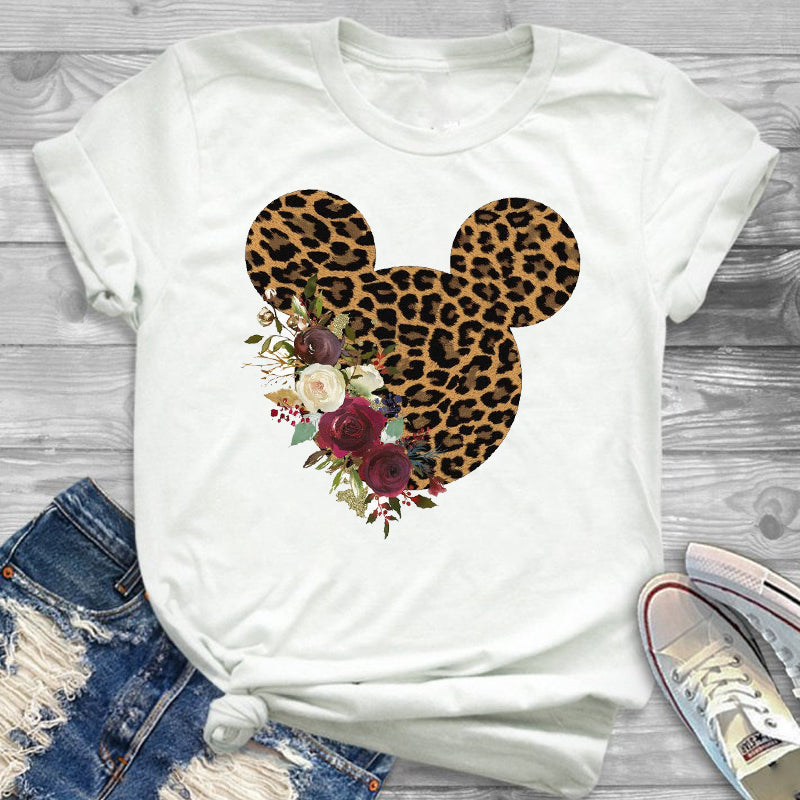 Summer Casual  Funny Women T-shirt Fashion Printing Tops  Tees - BLANC BLANK