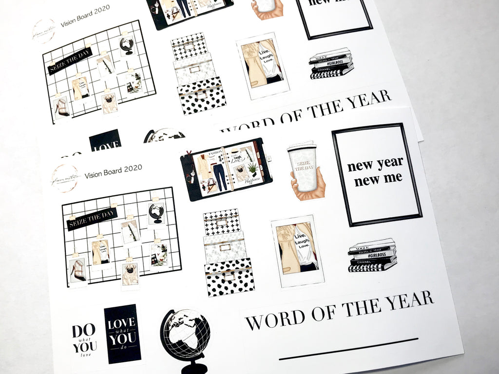 VISION BOARD DECO SHEET