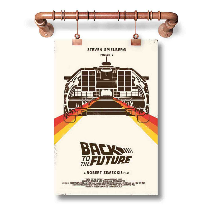 Back to The Future Art Poster Wall Decor