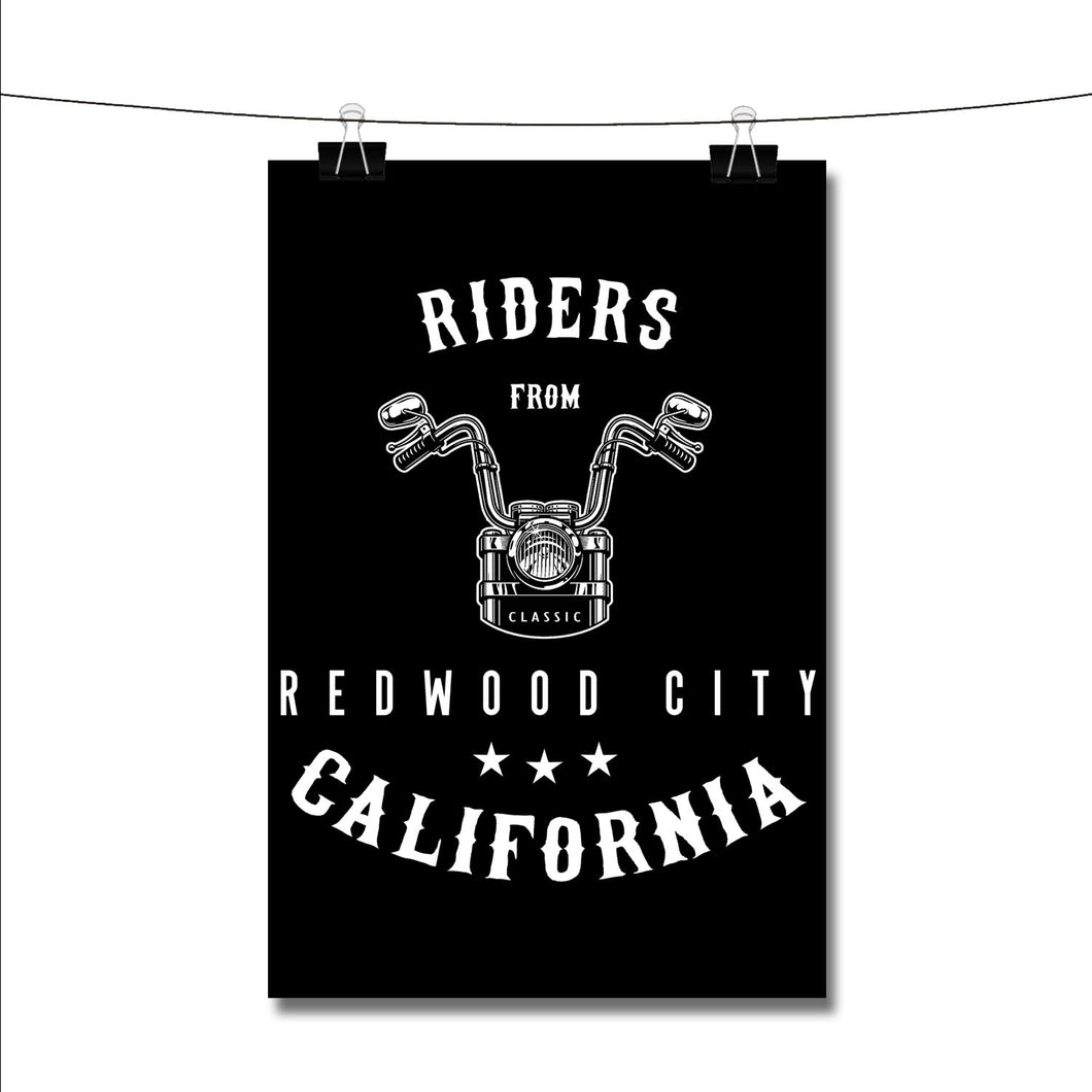 Riders from Redwood City California Poster Wall Decor
