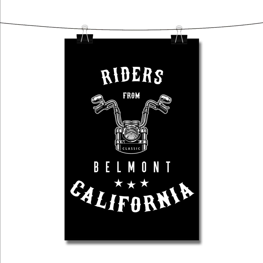 Riders from Belmont California Poster Wall Decor