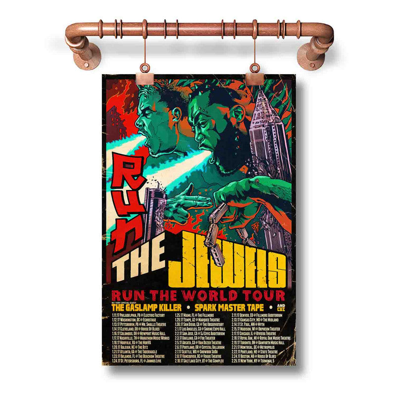 Run The Jewels Run The World Tour 2017 Poster Wall Decor