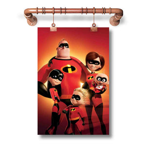 The Incredibles Super Family Poster Wall Decor