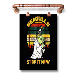Yoda Seagulls Stop It Now Poster Wall Decor