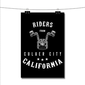 Riders from Culver City California Poster Wall Decor