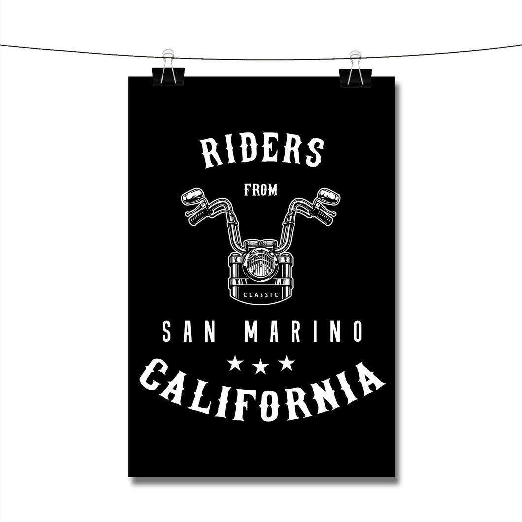 Riders from San Marino California Poster Wall Decor