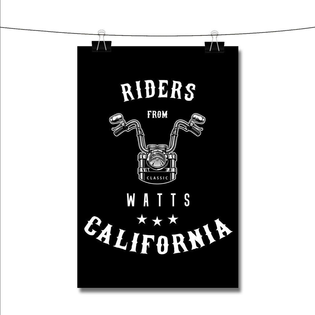 Riders from Watts California Poster Wall Decor