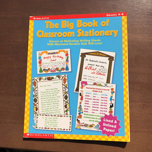 Big Book Of Stationary Grade 4-6: Grades 4-6 -workbook