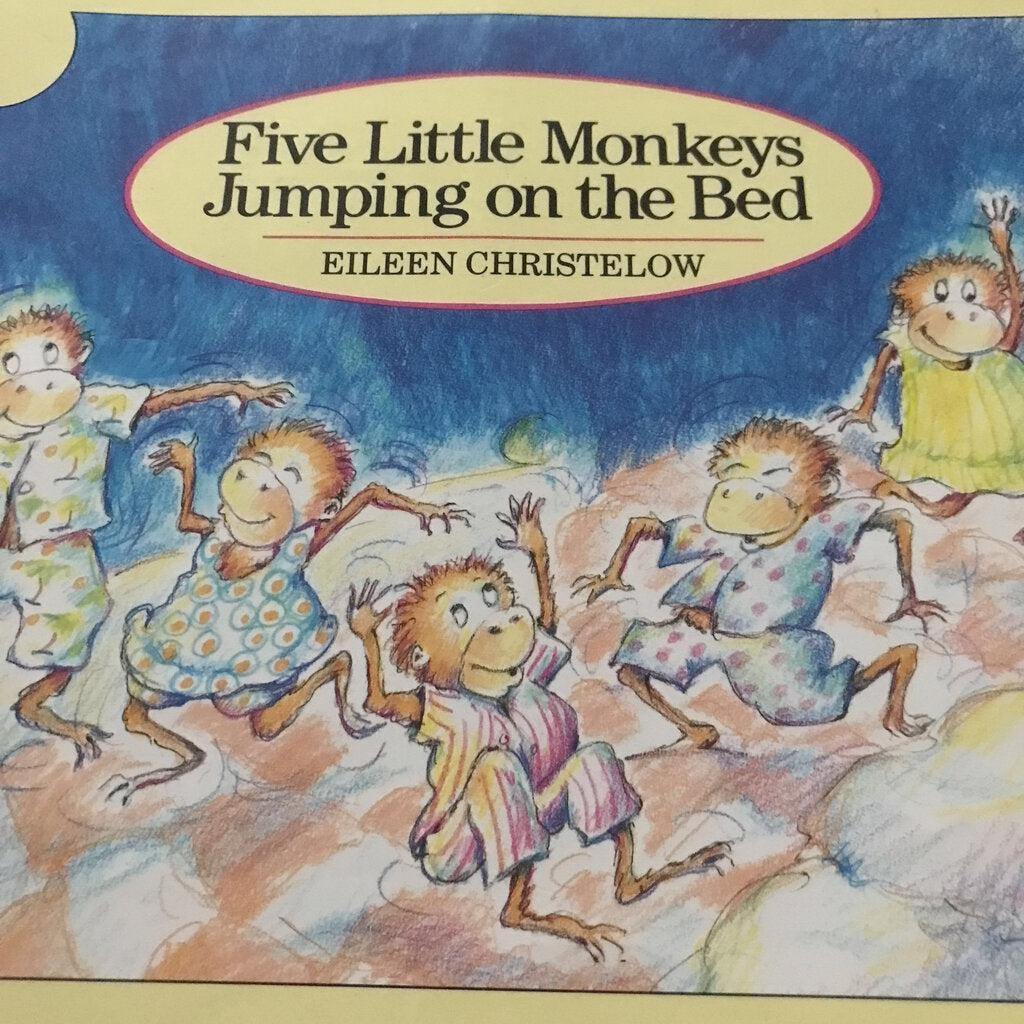 Five Little Monkeys Jumping on the Bed (Eileen Christelow) -paperback