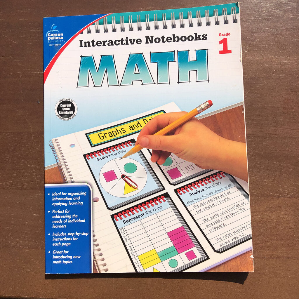 Math, Grade 1-workbook