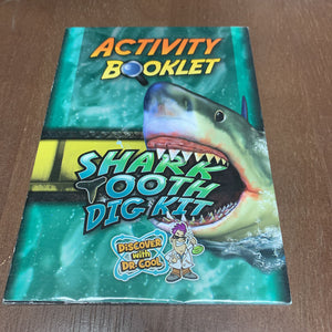 Shark Tooth Dig Kit 2pck book-Reader