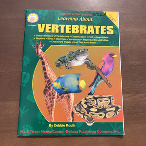 Learning About Vertebrates-Wokrbook
