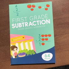 Load image into Gallery viewer, 1st grade subtraction good grades-workbook