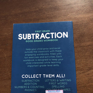 1st grade subtraction good grades-workbook