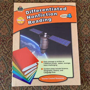 Differentiated Nonfiction Reading, Grade 4 - workbook