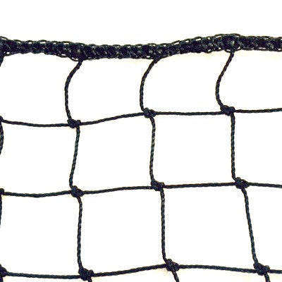 Heavy Duty Litter Netting 2.4mm x 50mm Black Knotted polyethylene