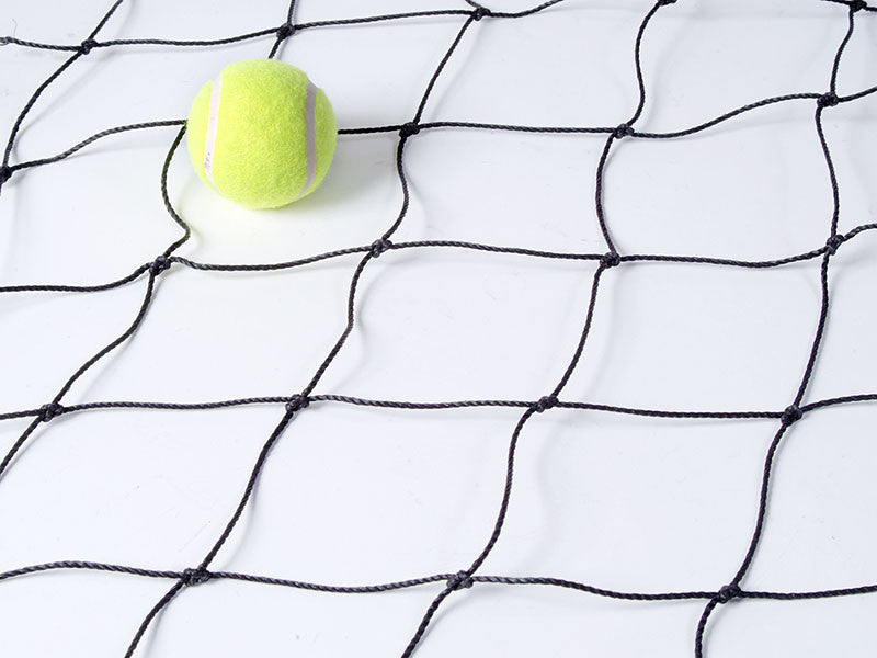 Black 100mm x 2mm Polyethylene Football netting