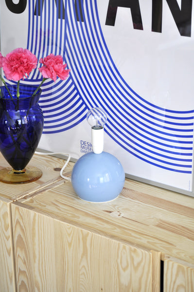 VINTAGE BLUE BALL LAMP