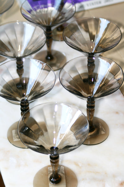 VINTAGE CHAMPAGNE GLASS - SET OF FOUR