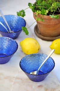 VINTAGE FRENCH BLUE SNACK BOWL - 3 AVAILABLE
