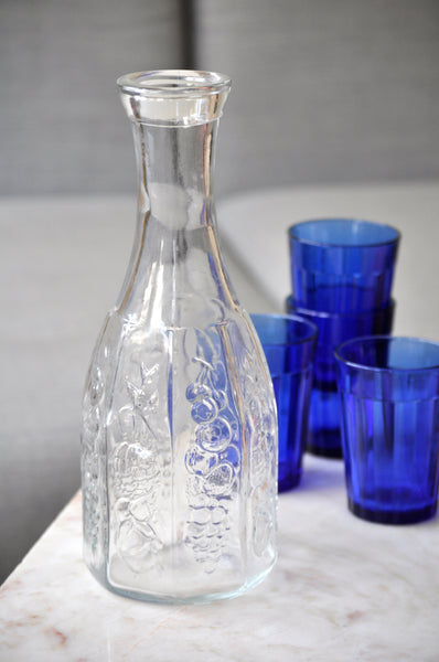 VINTAGE FRENCH CLEAR GLASS DECANTER