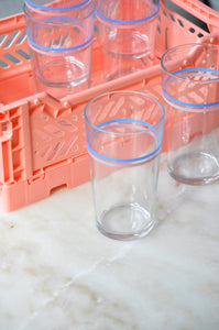 VINTAGE STRIPED GLASSES TALL - SET OF SIX