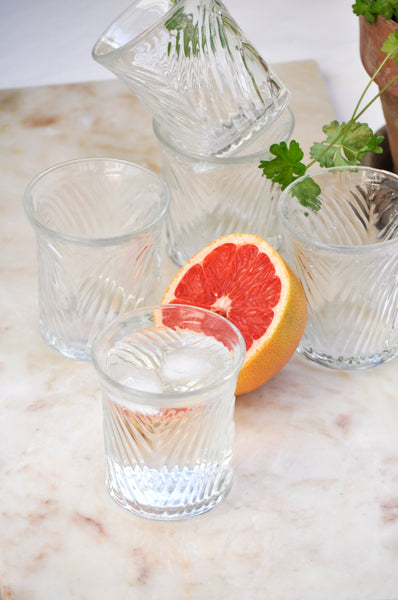 VINTAGE ITALIAN PATTERNED GLASSES - SET OF 5