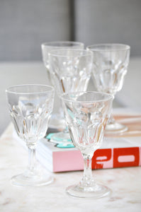 VINTAGE FRENCH SMALL WINE GLASSES - SET OF 5