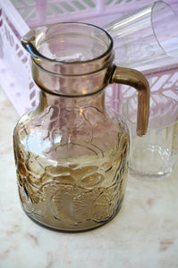 VINTAGE ITALIAN SMOKED GLASS PITCHER