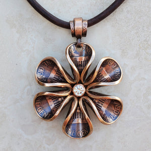 Copper Penny Blossom with Cubic Zirconia