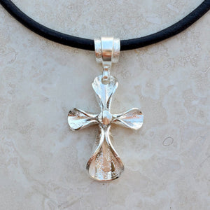 Antique Silver Dime Cross Necklace