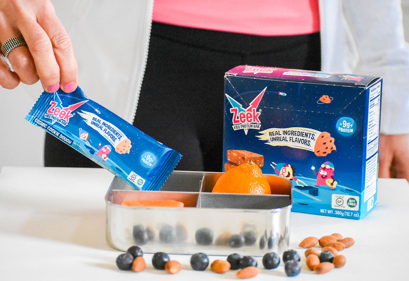 Kids protein bars in the lunchbox