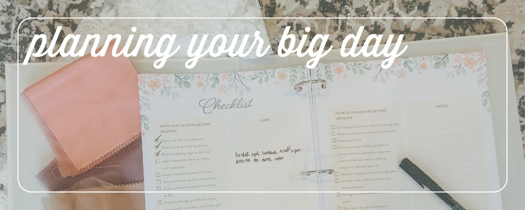 stay organized throughout your wedding planning