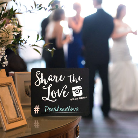 Pearhead Wedding Chalkboard Set