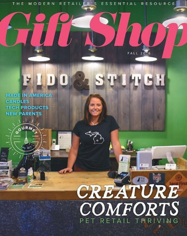 Gift Shop Magazine Features Pawprints Wall Frame