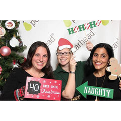 fun with the Pearhead photo booth at Mom Trends Holiday Soiree