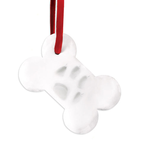 pawprints bone ornament