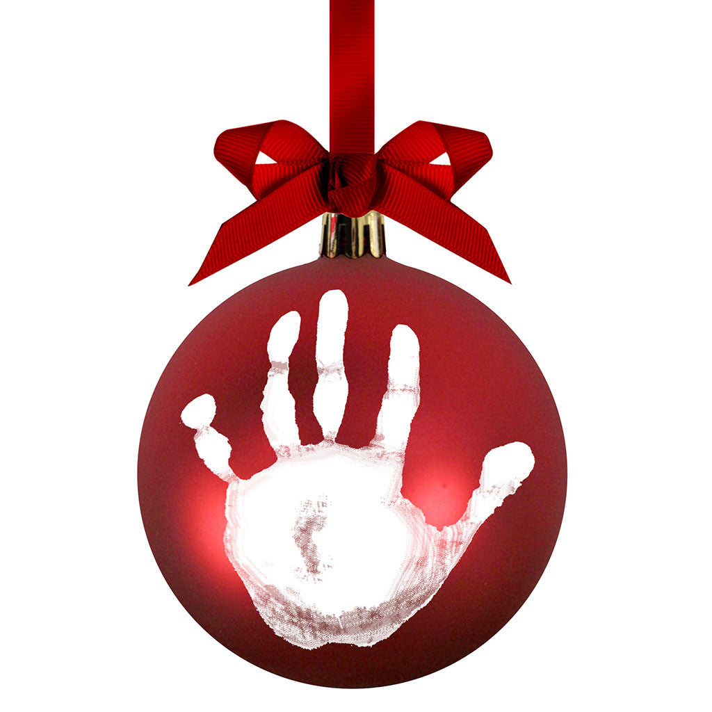 pearhead's babyprints ball ornament